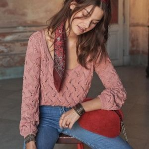 Sézane Yvette Jumper Sweater | Blush Pink